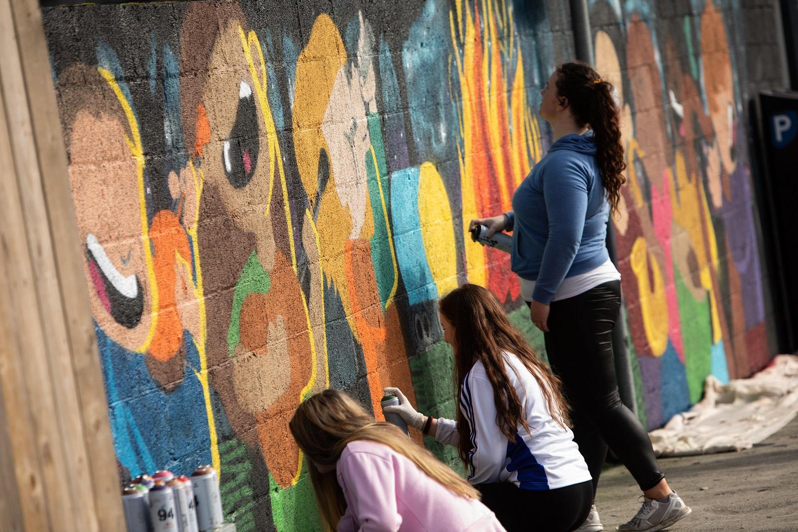 Pure Ballina street art project at Ballina Fringe Festival